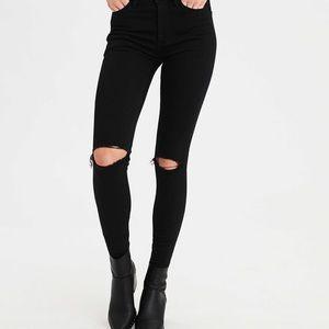 American Eagle super high waist skinny jean